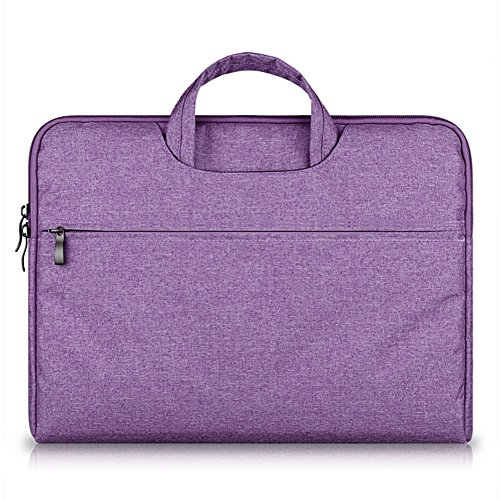 G7Explorer Water-resistant Laptop Sleeve Case Bag Portable Computer handbag For Apple Macbook Air Pro and other Notebook 13.3 inches Purple