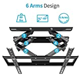 """Everstone TV Wall Mount Fit for Most 26""""-60"""" TVs Dual Articulating Arm Full Motion Tilt Swivel Bracket 14"""" Extension Arm,LED,LCD,OLED& Plasma Flat Screen TV,Curved TV,Up to VESA 400mm,HDMI Cable"""