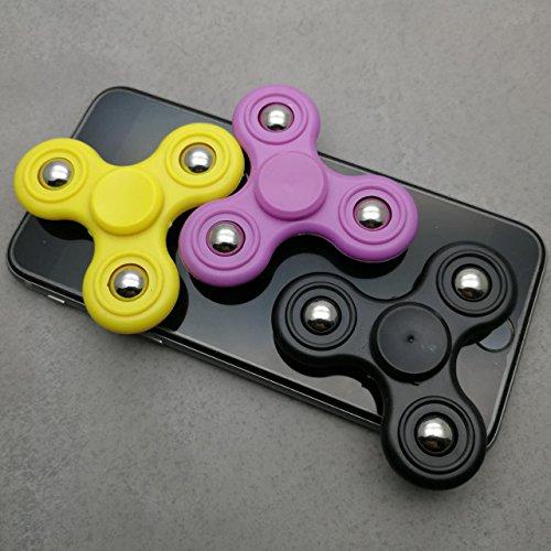 3-PACK Mini Size Fidget Spinner Toy Stress Reducer 2017 New Style EDC Fidget Hand Spinner Triangle Finger Spinner Anti Stress Focus Toy for Kids (3-PACK FOR KIDS 1)