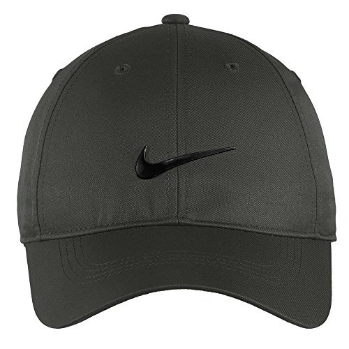 Nike Authentic Dri-FIT Low Profile Swoosh Front Adjustable Cap - Dark Grey (Tailwind Nike Women)