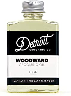 product image for Detroit Grooming Co. Beard Oil - Woodward - Vanilla Mahogany Scent - Nourishing, Soothing, and Moisturizing All Natural Oil Promotes Growth of Beard Hair - Rich in Vitamins and Essential Oils (1 oz)