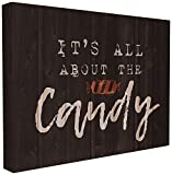 The Stupell Home Décor Collection Its All about the Candy Stretched Canvas Wall Art, 16 x 20