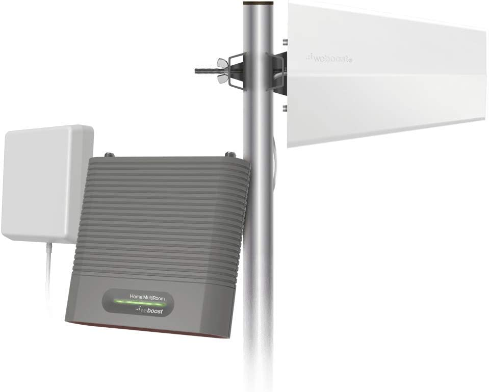 weBoost Destination RV (470159) Cell Phone Signal Booster Kit for Stationary Use Only | USA Company | All U.S. Carriers - Verizon, AT&T, T-Mobile, Sprint & More | FCC Approved