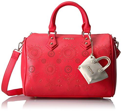 Desigual Bowling Vanesa, Bolsa de Asa Superior para Mujer, 15x26x31 cm (B x H x T) Rojo (3148)