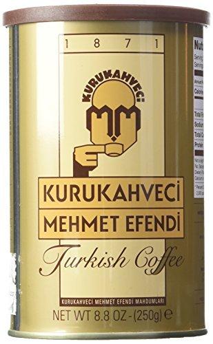 Mehmet Efendi Turkish Coffee, 250 Gram Can (Coffee Turkish Ground)