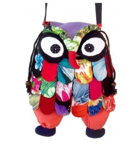 new-thai-handmade-adorable-patchwork-owl-back-pack-bag-full-color-medium-size
