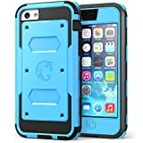 iPhone 5C Case, i-Blason Armorbox for Apple iPhone 5C Dual Layer Hybrid Full-body Protective Case with Front Cover and Built-in Screen Protector and Impact Resistant Bumpers for iPhone 5C (Blue)