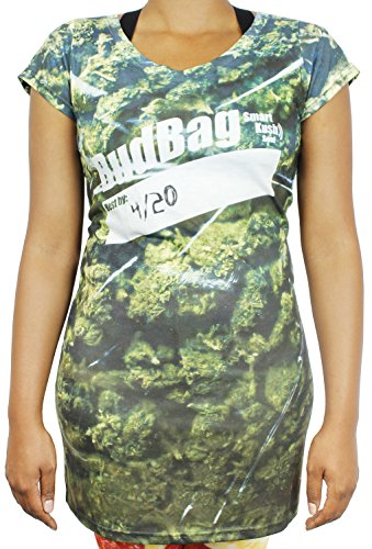 Weed Halloween Costumes (Marijuana Weed Pot T-Shirt For Women - Size Large)