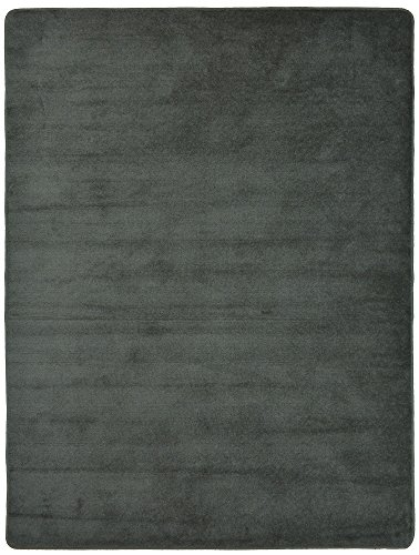 "Euro Collection Solid Color Area Rug Rugs Slip Skid Resistant Rubber Backing Machine Washable More Color Options (Grey, 5 x 7 (4'11"" x 6'6""))"
