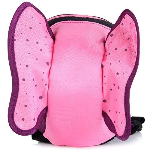 UEETEK Schmetterling Form Kinder Sport Outdoor-Anti-verlorene Rucksack Schultasche mit Hut für Kinder Mädchen