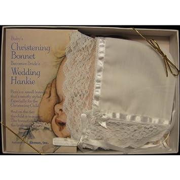 Babys Bonnet Keepsake Brides Hankie Baby Gifts
