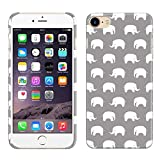 Apple iPhone 7/8 4.7 inch Case, Fincibo (TM) Back Cover Hard Plastic Protector, Elephants Titanium Gray