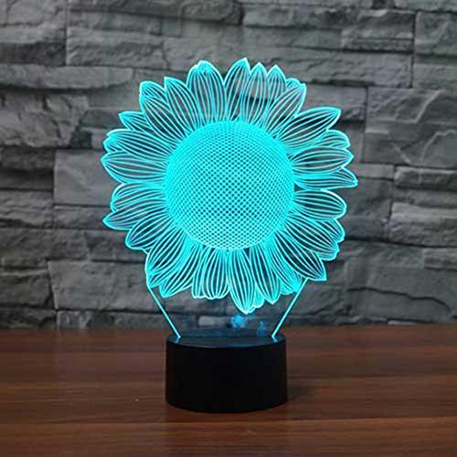 7 Color Change Illusion 3d Visual Lotus Flower Nightlight Table Desk Lamp Child Bedroom Christmas New Year Party Lighting Decor A Great Variety Of Models Lights & Lighting