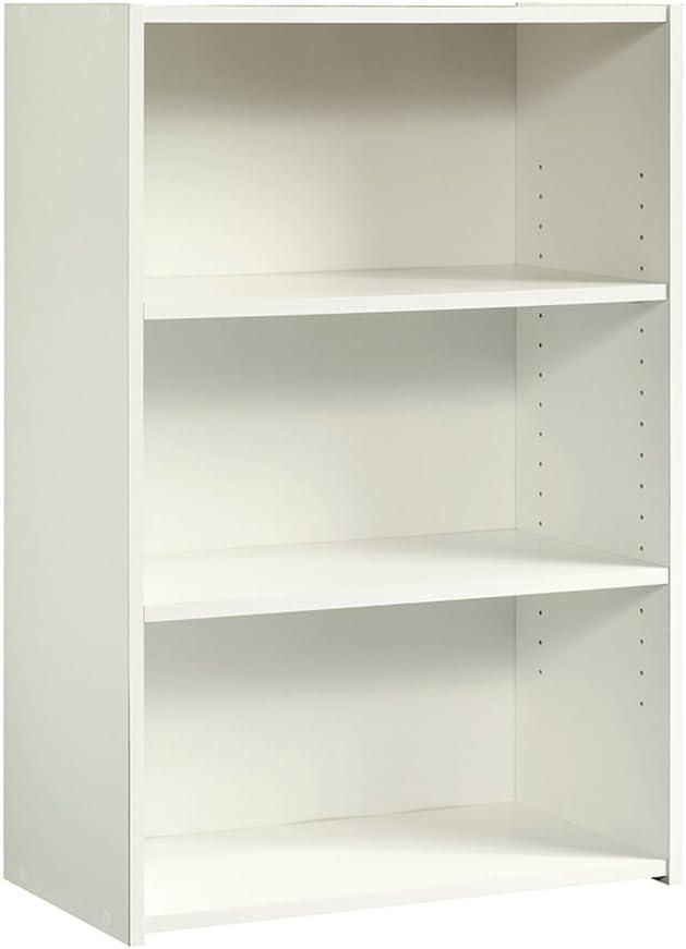 Sauder Beginnings 3-Shelf Bookcase, L 24.57 x W 11.5 x H 35.28 , Soft White finish