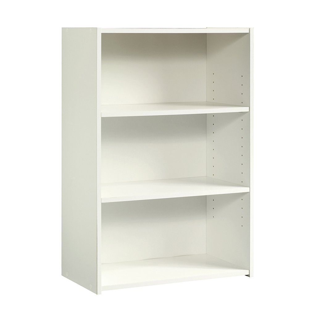 "Sauder 415541 Beginnings 3-Shelf Bookcase, L: 24.57"" x W: 11.5"" x H: 35.28"", Soft White finish"