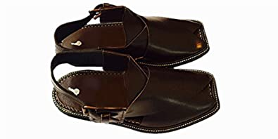 c20aeddb4d8 Desert Dress Authentic Mens Afghan Shoes Authentic Leather Sandals Arab  Islam Brown (6)