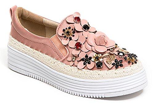 Fransk Blu Kvinners Rihanna Blomstrete Jeweled Sneaker Rosa