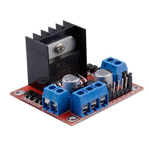 Qunqi l298n motor drive controller board module dual h Arduino motor control board