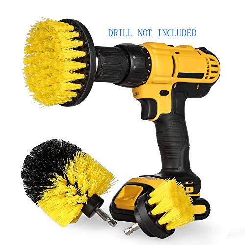 Drill Brush Power Scrubber Brush for Drill Attachment Kits Power Cleaning Brush High Speed and More Effective for Cleaning Bathroom Surfaces, Tile and Grout, Hard Water Stains, Rust-3 Packs by Cybbo