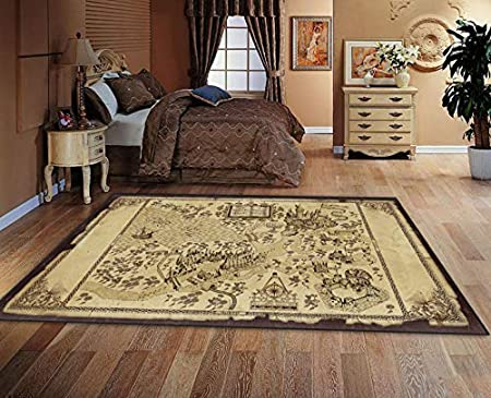 Rugs Fashion Mats Harry Potter American Retro Magic World Map