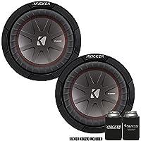 Kicker 43CWR82 8 Dual Voice Coil 2 ohm Comp R woofers Bundle