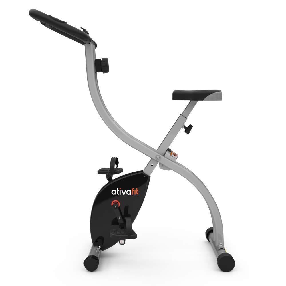 ATIVAFIT Indoor Cycling Bike Folding Magnetic Upright Bike Stationary Bike Recumbent Exercise Bike (Grey) by ATIVAFIT (Image #8)