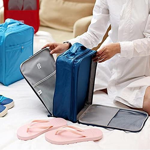 OLizee Double-sided Travel Shoe Bag Space-saving Bag Portable Breathable Shoe Pouch