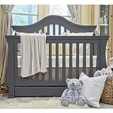 Million Dollar Baby Ashbury 4-in-1 Convertible Crib, Manor Grey