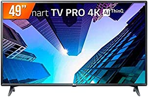 "Smart TV LED 49"" LG ThinQ AI Ultra HD 4K 49UM731C 3 HDMI 2 USB Wi-fi com Conversor Digital"