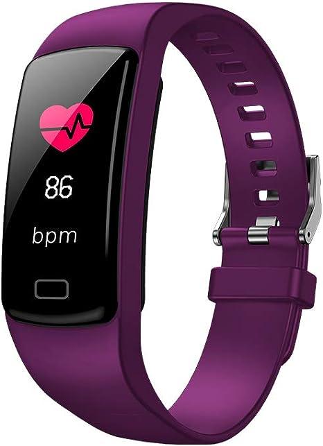 Imagen deSparY Fitness Tracker-Smart Watch Fitness Wristband-Rastreador de Actividad de presión Arterial a Prueba de Agua con cronómetro,GPS,podómetro,Contador de Pasos para Mujeres Hombres(Púrpura)