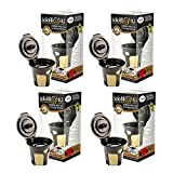 Refillable Filter K3-Cup in Gold Designed with Micro Foil Filter Technology (4 Pack)