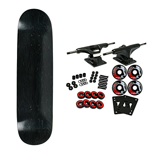 Moose Complete Skateboard STAINED BLACK 8.25