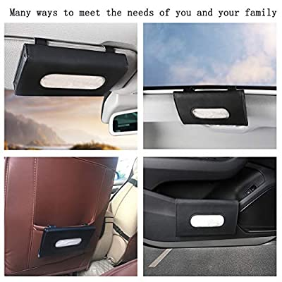 Fredysu Car Visor Tissue Holder, Sun Visor Napkin Holder Backseat Tissue Case, Premium Car Tissue Box for car, Vehicle (Black): Automotive