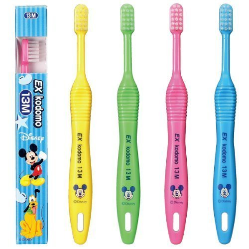 Lion EX kodomo Disney Toothbrush 13 (babies・0~6 years old) 4 count M by Lion