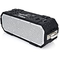 TRAKK BANG IPX6 4.0 10W+ Wireless Bluetooth Speaker - Waterproof Portable Stereo with Carabiner Clip & Call Control Button - Compatible With Android, Apple iPhone, Tablets, PC, Laptop & MAC - Black