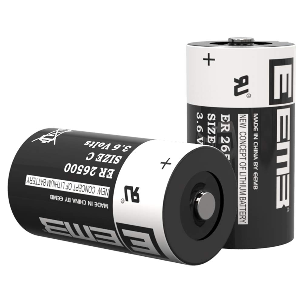 EEMB 3.6 V C Size Lithium Battery Cell ER26500 Li-SOCl2 9000 mAh Lithium Thionyl Chloride Battery UL Certified High Capacity Batteries