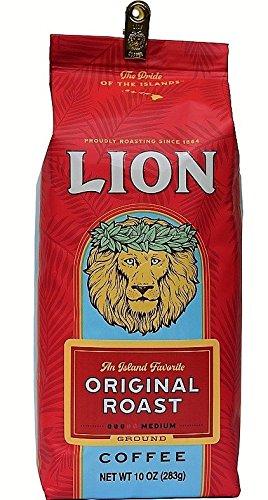Hawaii Lion Coffee Original Roast Ground Medium Roast 10 Oz. An Island Favorite