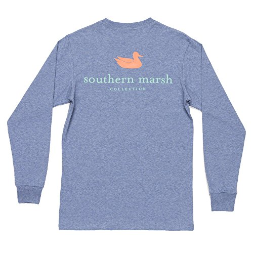 (Southern Marsh Men's Authentic Long Sleeve Tee, Washed Slate, X-Large)