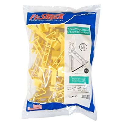 "Fi-Shock IT5XY-FS Snap-On Extender Insulator, 5"", Yellow"
