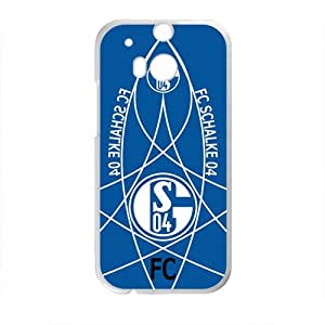 FC Schalke 04 Brand New And Custom Hard Case Cover Protector For HTC One M8