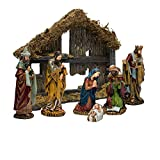 Kurt Adler 6-Inch 7-Piece Resin Nativity Set with Stable and 6 Figures