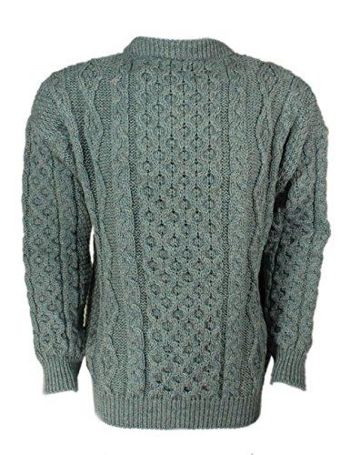 Kerry Woollen Mills Aran Sweater Summer Storm 100% Wool Irish Made Large by Kerry Woollen Mills