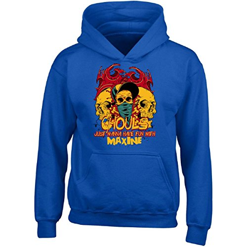 Ghouls Just Wanna Have Fun With Maxine Halloween - Girls Hoodie Kids S Royal (Maxine On Halloween)