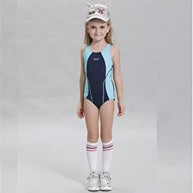 362c0a90d0 Girls Boys Swimsuits Racing Training Sports Athletic Swimwear Rash Guard  Surfing Suits (104 (2