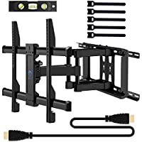 Perlesmith TV Wall Mount Bracket Full Motion for 37
