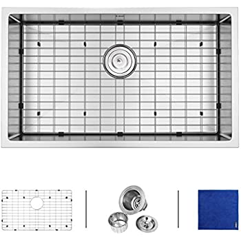 enbol sd3219 32 inch undermount single bowl 16 gauge stainless steel kitchen sink 10 inch enbol sd3018 30 inch single bowl 16 gauge undermount stainless      rh   amazon com