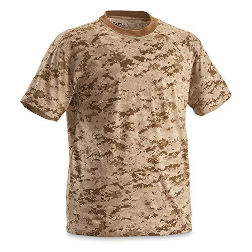 HQ ISSUE Men's Short Sleeve Digital Camo Tee, 2 Pack, Desert Digital Camo, XL