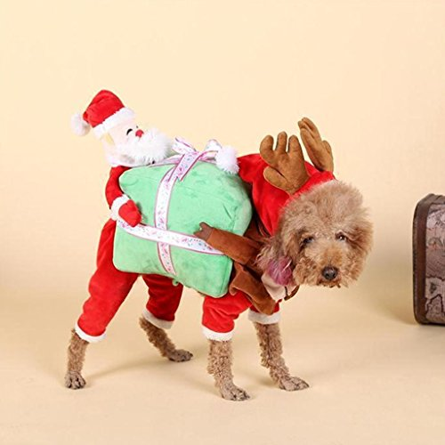SYlive Christmas Pet Costumes, Funny Pet Dog Clothes