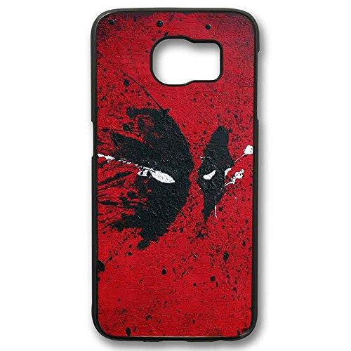 deadpool face paint art For Samsung Galaxy S6 Edge Black Case]()