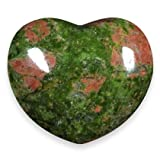Unakite Crystal Heart ~45mm